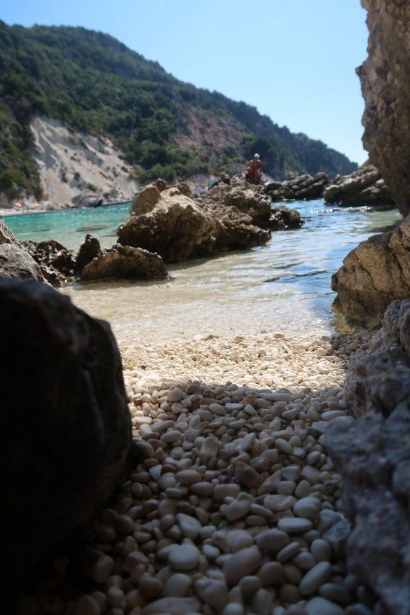 Плаж Агиофили, остров Лефкада, Гърция през септември