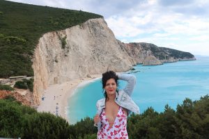 момиче, порто кацики, плаж, море