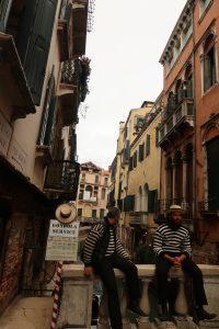 гондолиери във Венеция