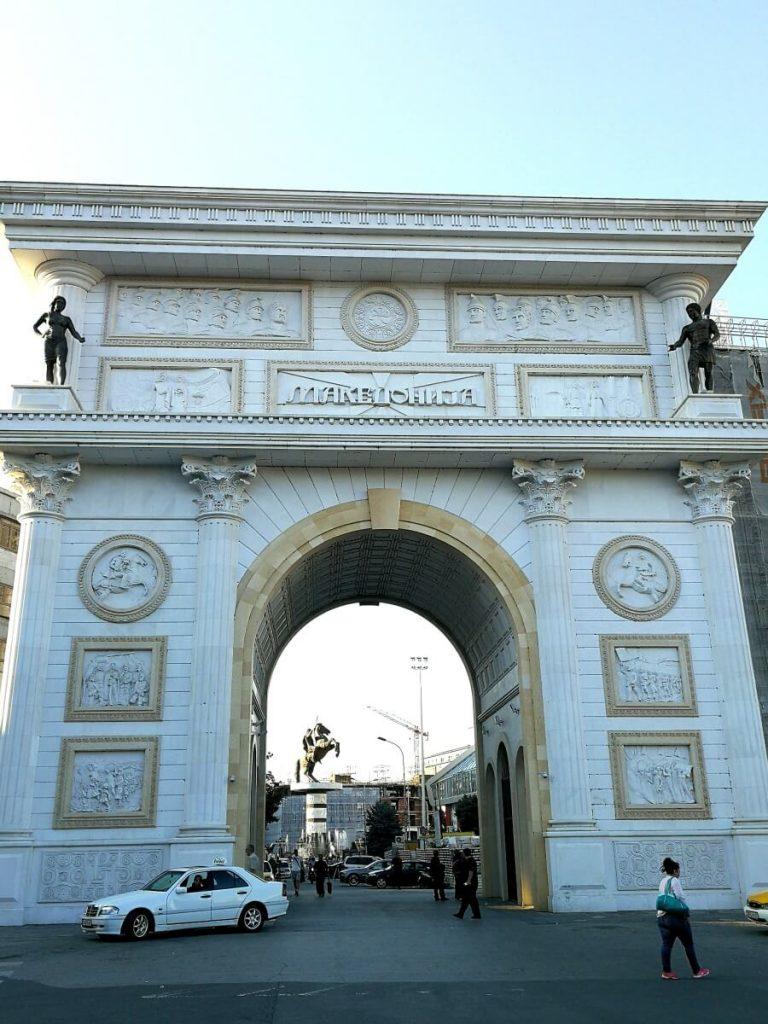 порта македония, триумфална арка в Скопие
